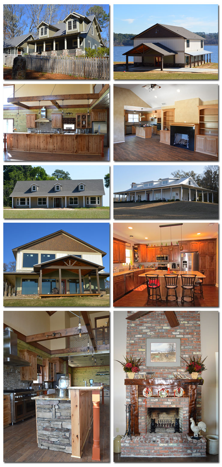 Collage of many custom built homes