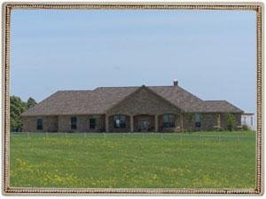 large custom built home