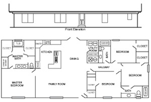 ponderosa 2 floor plan - Custom Built Home Floor Plans